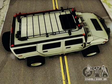 Hummer H2 Monster 4x4 para GTA San Andreas vista direita