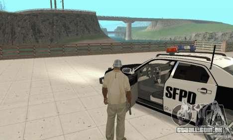 Chrysler 300C Police v2.0 para GTA San Andreas vista traseira