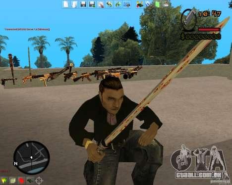Smalls Chrome Gold Guns Pack para GTA San Andreas sexta tela
