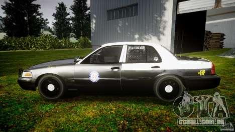 Ford Crown Victoria 2003 Florida CVPI [ELS] para GTA 4 esquerda vista