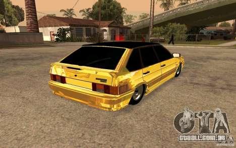 ВАЗ 2114 OURO para GTA San Andreas traseira esquerda vista