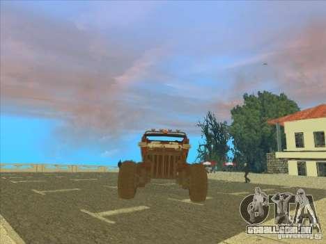 Jeep from Red Faction Guerrilla para GTA San Andreas vista traseira
