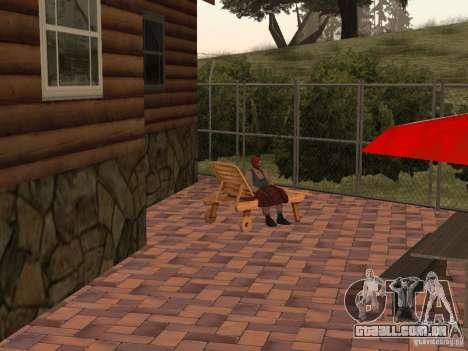 Villa nova para o CJ para GTA San Andreas oitavo tela
