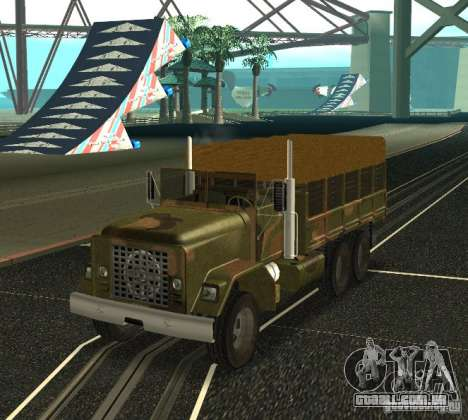Sand Barracks HD para GTA San Andreas traseira esquerda vista