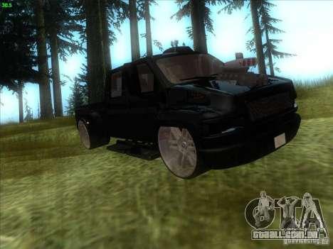 GMC C4500 Pickup DUB Style para GTA San Andreas esquerda vista