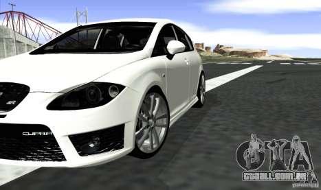 Seat Leon Cupra R para GTA San Andreas traseira esquerda vista