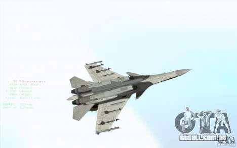 O Su-37 Terminator para vista lateral GTA San Andreas