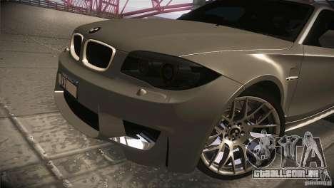 BMW 1M E82 Coupe 2011 V1.0 para vista lateral GTA San Andreas