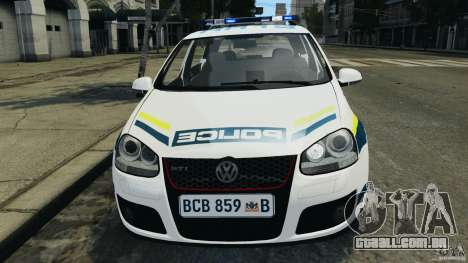 Volkswagen Golf 5 GTI South African Police [ELS] para GTA 4 vista superior