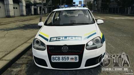Volkswagen Golf 5 GTI South African Police [ELS] para GTA 4 vista superior