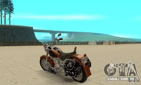 Harley Davidson FLSTF (Fat Boy) v2.0 Skin 2 para GTA San Andreas traseira esquerda vista