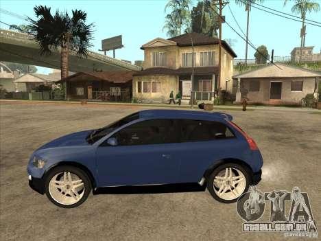 VOLVO C30 Sport 2009 para GTA San Andreas esquerda vista