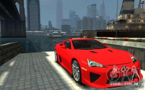 Lexus LFA v1.0 para GTA 4 vista de volta