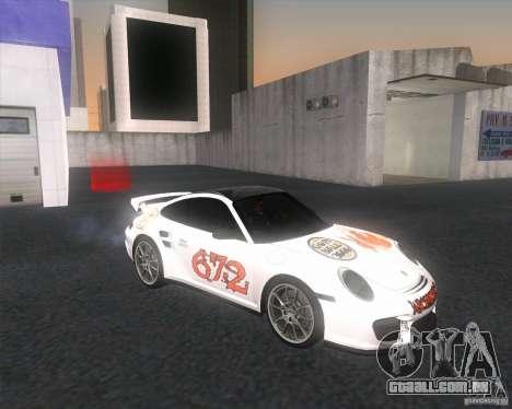 Porsche 911 GT2 (997) para GTA San Andreas vista direita