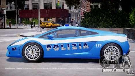 Lamborghini Gallardo LP560-4 Polizia para GTA 4 traseira esquerda vista