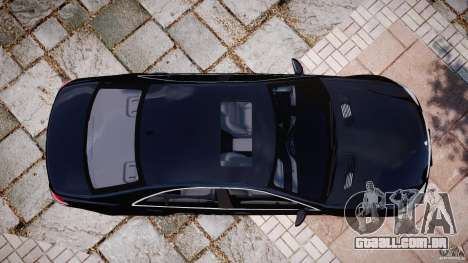 Mercedes-Benz S600 w221 para GTA 4 vista direita