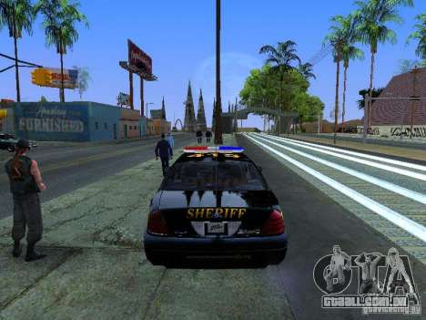 Ford Crown Victoria Erie County Sheriffs Office para GTA San Andreas vista direita