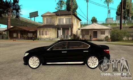 Lexus LS460L 2010 para GTA San Andreas esquerda vista