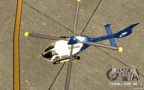 NYPD Eurocopter por SgtMartin_Riggs para GTA San Andreas vista traseira
