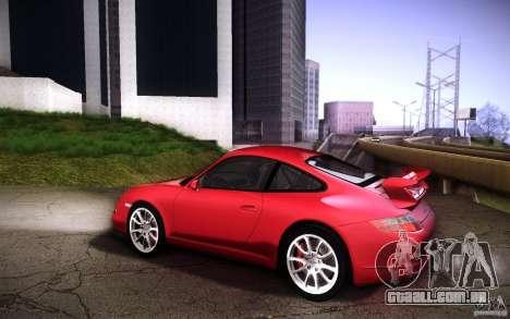 Porsche 911 GT3 (997) 2007 para GTA San Andreas vista traseira