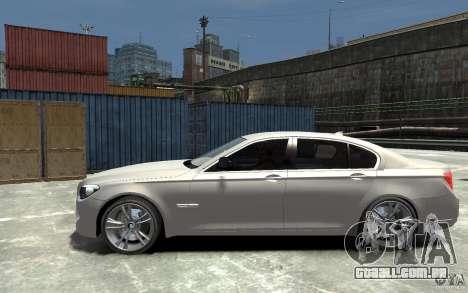 BMW 750i F01 v3 para GTA 4 esquerda vista