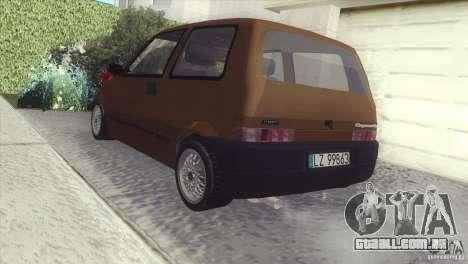 Fiat Cinquecento para GTA San Andreas traseira esquerda vista
