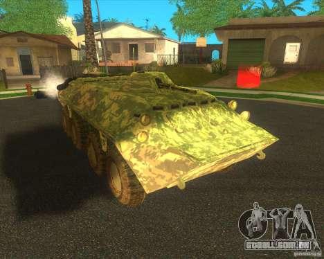 Camuflagem eletrônica BTR-80 para GTA San Andreas esquerda vista
