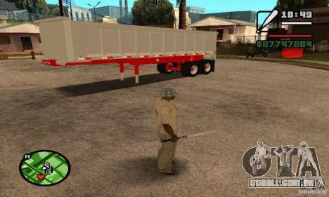 Artict3 Dump Trailer para GTA San Andreas vista interior