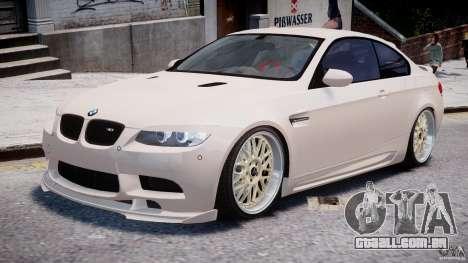 BMW M3 Hamann E92 para GTA 4 esquerda vista