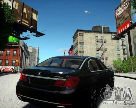 BMW 750Li 2013 para GTA 4 vista direita