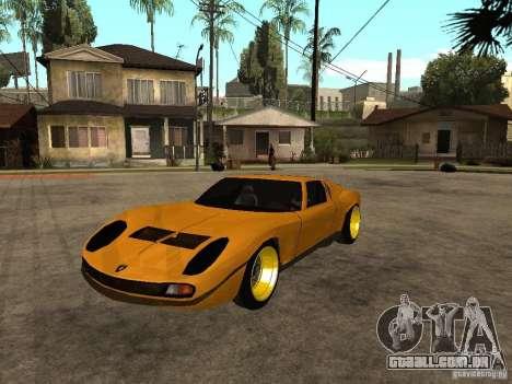 Lamborghini Miura para GTA San Andreas