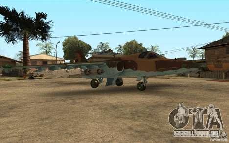 O Su-25 para GTA San Andreas vista direita
