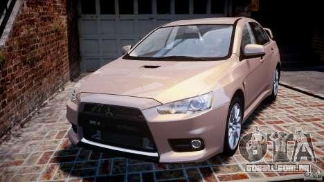 Mitsubishi Lancer Evolution X para GTA 4