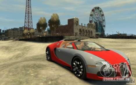 2009 Bugatti Veyron Grand Sport [EPM] para GTA 4 vista de volta