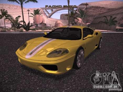 Ferrari 360 Modena para GTA San Andreas vista interior