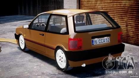 Fiat Tipo 1990 para GTA 4 vista lateral