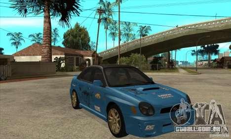 Subaru Impreza WRX para GTA San Andreas vista interior