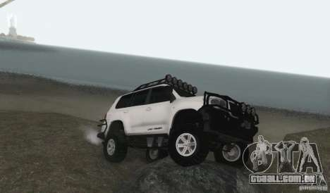 Toyota Land Cruiser 200 Off Road v1.0 para GTA San Andreas traseira esquerda vista
