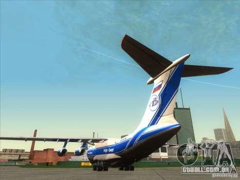 IL 76 m Aeroflot para GTA San Andreas traseira esquerda vista