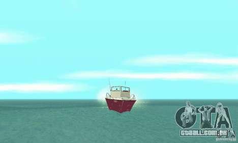 Sports Fishing Boat para GTA San Andreas vista direita
