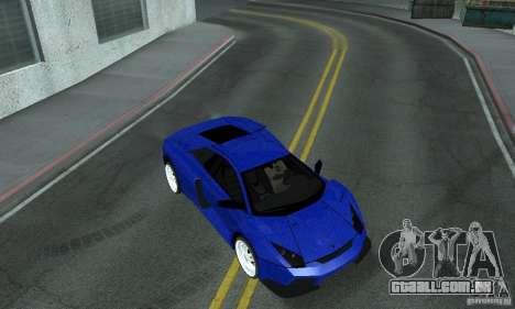 Lamborghini Murcielago Tuned para GTA San Andreas vista superior