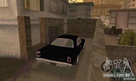 Plymouth Roadrunner 383 para GTA San Andreas esquerda vista