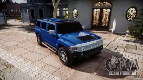 Hummer H3 para GTA 4 vista de volta