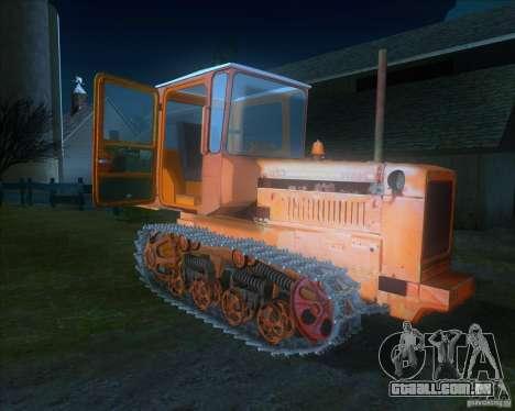 Tractor DT-75 carteiro para GTA San Andreas esquerda vista