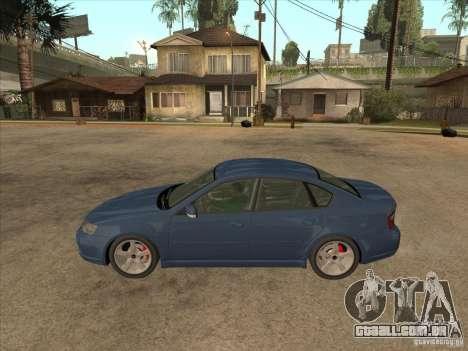 Subaru Legacy 3.0 R para GTA San Andreas esquerda vista