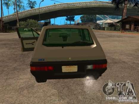 Fiat Ritmo para GTA San Andreas vista traseira