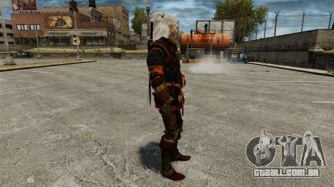 Geralt de Rivia v4 para GTA 4 segundo screenshot