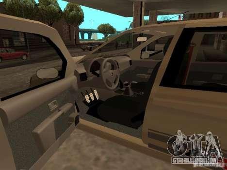 Fiat Palio 1.8R para GTA San Andreas traseira esquerda vista