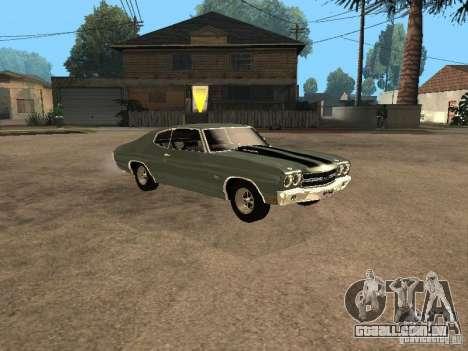 Chevrolet Chevelle SS 454 1970 para GTA San Andreas vista direita