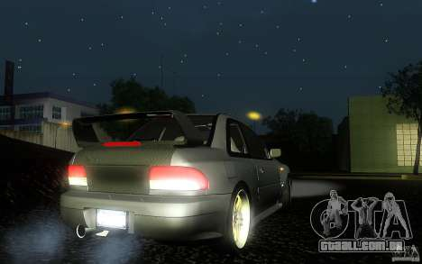 Subaru Impreza 22B para GTA San Andreas traseira esquerda vista